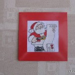 Santa's list cross-stitch card