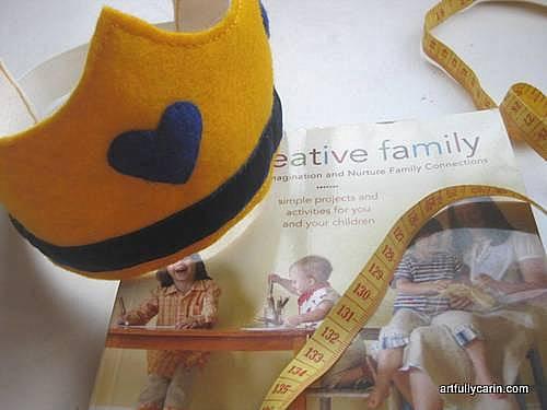yellow felt birthday crown