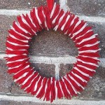 Small felt Christmas wreath