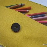 Simple felt pencil cases