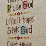 Time For God cross-stitch