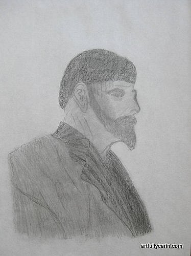 Drawing of Greek man