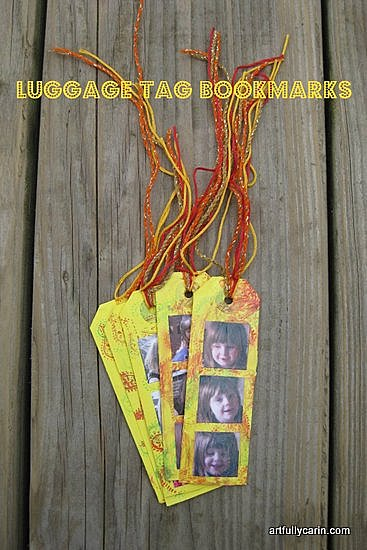 luggage tag bookmarks by Artfully Carin