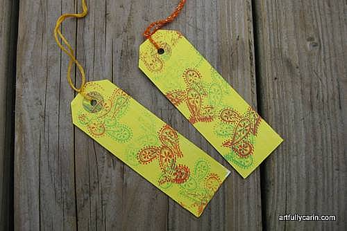 Stamped Luggage tag bookmarks