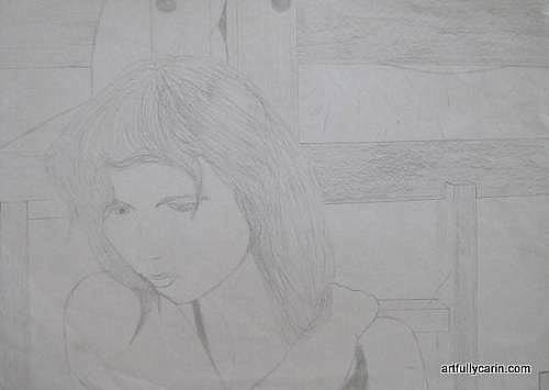 Drawing of girl