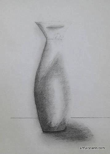 Drawing of a vase