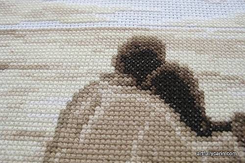 Vervaco In Love cross-stitch close up