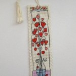 Hearts in Glass Vase Bookmark
