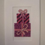 Presents cross-stitch card