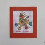 cross-stitch: Christmas reindeer card