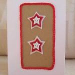Scandinavian style felt star card