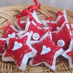 Scandinavian felt star ornaments