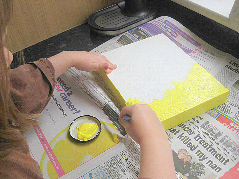 how to make butterfly canvas 1