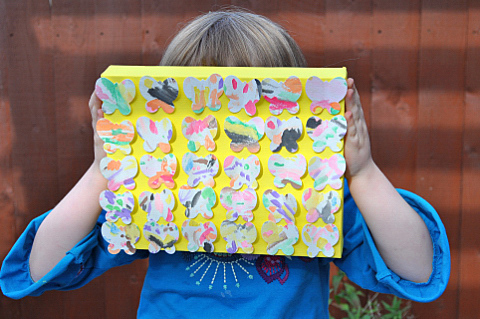 how to make butterfly canvas 5