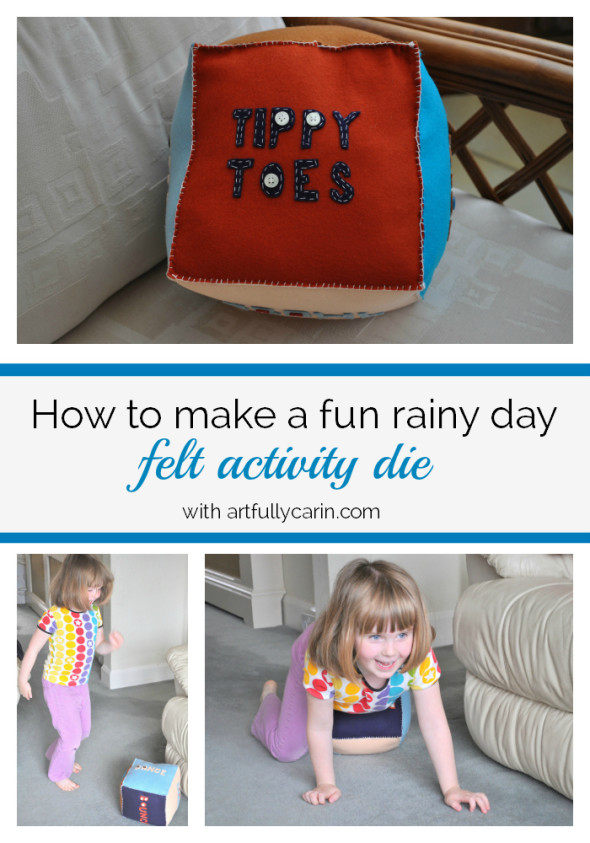 how to make fun rainy day felt activity die