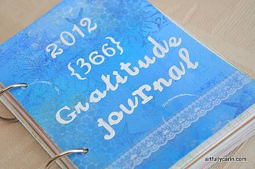 Handmade gratitude journal