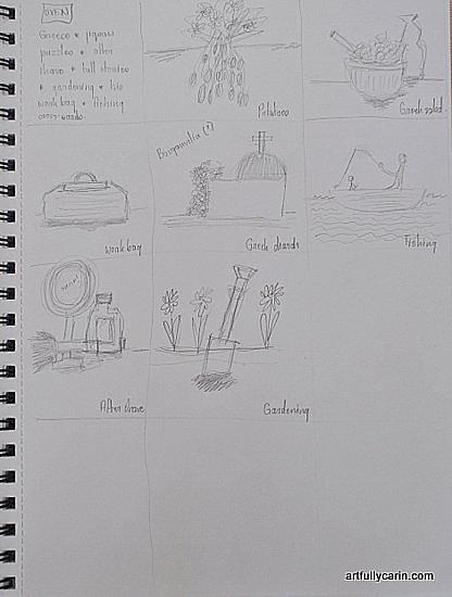 thumbnail sketching by Artfully Carin