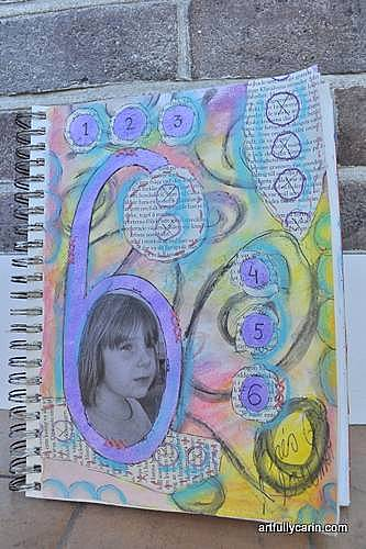 """6"" art journal page"