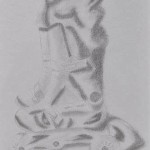 sketching childhood: Aoife's roller skates