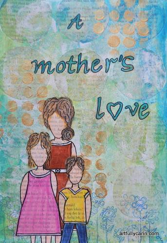 A Mother's Love art journal page
