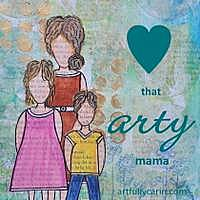 love that arty mama button