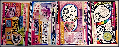 Sketchbook Spread by Marcia Beckett