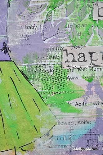 """""""dance and be happy"""" mixed media layers"""