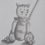 Sketching childhood: Kirby's push along cat