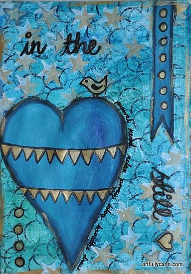 """In the still"" art journal by Artfully Carin"