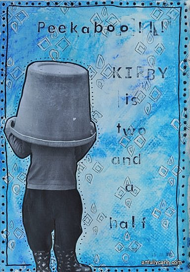 Peekaboo art journal page by Artfully Carin
