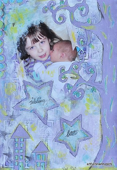 Sibling love art journal by Artfully Carin