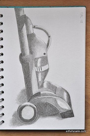 toy vacuum sketch by Artfully Carin