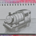 Sketching childhood: Percy the train