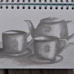 Sketching childhood: tea for two