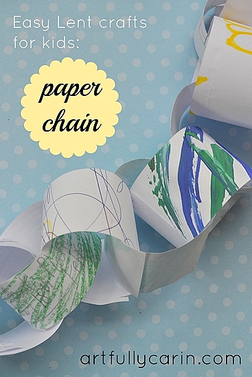 Easy Lent craft for kids paper chain
