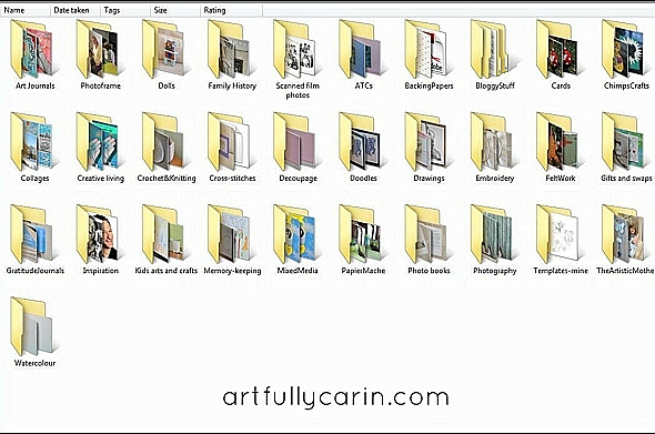 organising photo subfolders