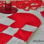 Scandinavian woven hearts placemats