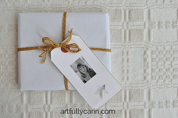how to make an easy personalised gift tag