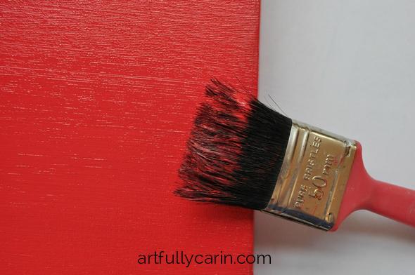 DIY distressed canvas