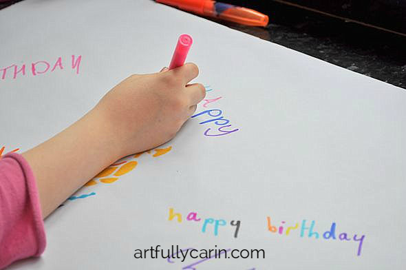 fun, personalised wrapping paper kids can do themselves in minutes