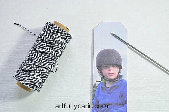 DIY photo bookmark