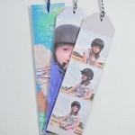 DIY photo bookmarks