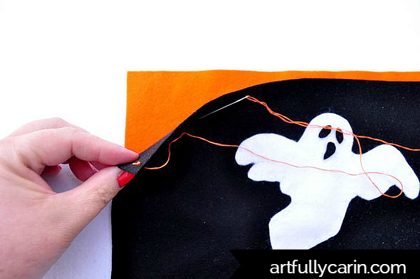 make spooky Halloween placemats