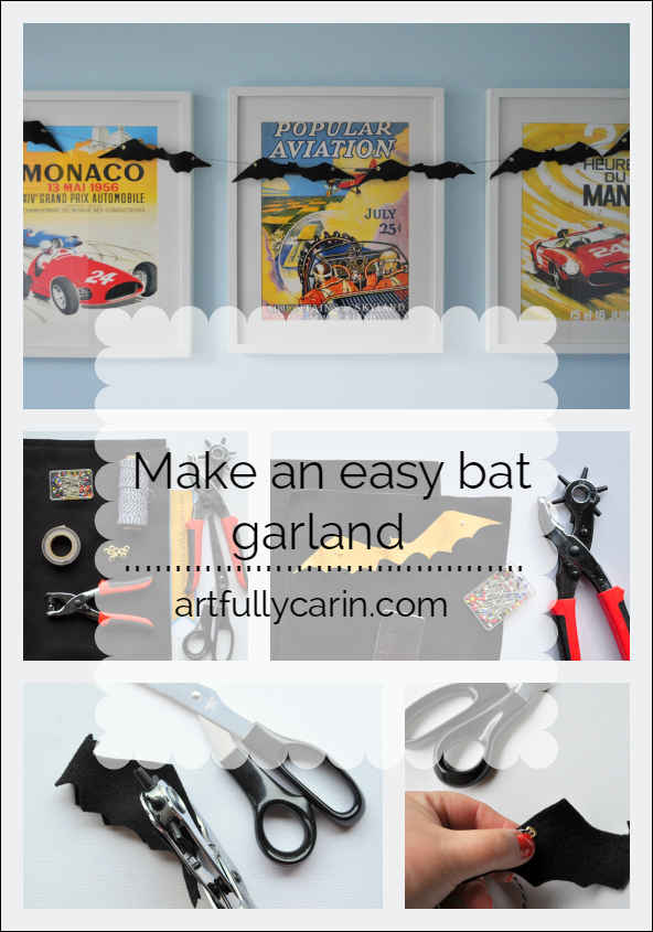 Great! An easy DIY bat garland that can be used year after year.