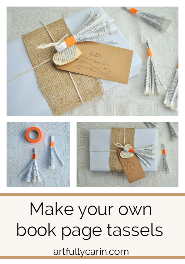 Make your own book page tassels