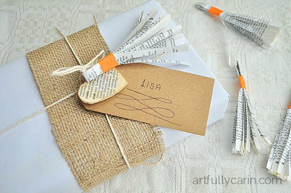 How to make your own book page tassels