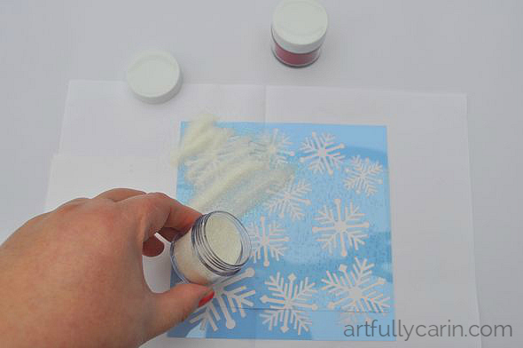 Make cute embossed tins for Christmas