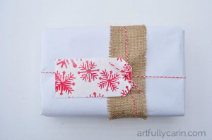 Make a beautiful embossed Christmas gift tag