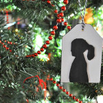 DIY silhouette Christmas ornaments